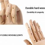 Scoolr Articulé Bois Gauche/Droite main Hommes Femmes Mannequin main en bois pour Art Dessin Figure Modèle Manikin 18cm. de la marque Scoolr image 5 produit