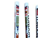Set de 4 crayons à papier souvenirsavec gomme en caoutchoucBlancMotifs monuments de Londres de la marque My London Souvenirs image 2 produit