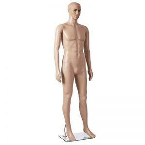 SONGMICS Mannequin Vitrine Homme manipulable avec Piédestal Corps entiers Couleur chair MPGM18 de la marque SONGMICS image 0 produit