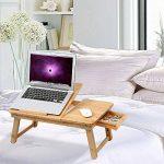 SONGMICS Table de lit pliable et réglable en hauteur Table d'ordinateur pour lit Table de lecture ou de dessin pour enfants et étudiants avec plateau inclinable 55 x (21-29) x 35 cm (B x H x T) LLD01N de la marque Songmics image 2 produit