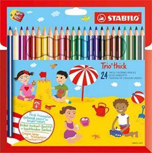 STABILO Trio - Étui carton de 24 crayons de couleur triangulaires + taille-crayon de la marque STABILO image 0 produit