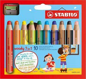 STABILO woody 3in1 - Étui carton de 10 crayons tout-terrain + taille-crayon de la marque STABILO image 0 produit