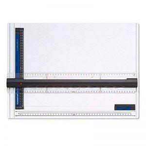 Staedtler Mars 661, planche à dessin en plastique, antichoc, indéformable et lavable, avec règle parallèle et fixe-support, 661 A3 de la marque Staedtler image 0 produit