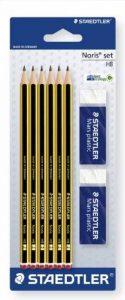 Staedtler - Noris 120 - Blister 6 Crayons Graphite HB + 2 Gommes 526 50 de la marque Staedtler image 0 produit