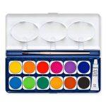 Staedtler Noris Club 888, Boîte peinture de 12 pastilles de couleurs lumineuses assorties + 1 tube gouache blanche + 1 pinceau, 888 NC12 de la marque Staedtler image 3 produit
