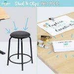 Stationery Island CAYE Table à Dessin pour l'Art et l'Artisanat – Bureau à Dessin Inclinable avec Rangement, Tabouret et Pinces de la marque Stationery Island image 2 produit