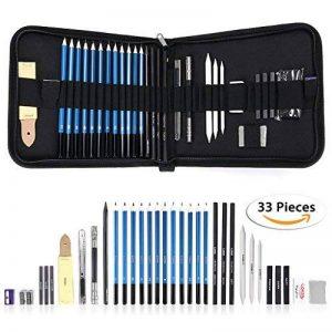 Sumnacon 33PCS d'Esquisse Crayon à Fusain, avec la Sacoche de Crayon rigide pour Amateur ou Impressionniste d'esquisse de l'artiste et Graphiste (33pcs) de la marque Sumnacon image 0 produit