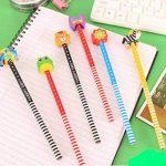 SYOO 30 x crayons de dureté de HB avec l'ensemble d'effaceur, cadeau de Giveaway pour la fête d'anniversaire parti d'enfants récompenses d'école de jardin (les couleurs sont aléatoires) de la marque SYOO image 1 produit