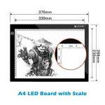 Table à Dessin A4 LED Tablette Lumineuse Professionnelle Ultra Plat Avec 3 Types de Luminosité Réglable Table pour Déssinateur Idéal Pour Artiste Dessin Pochoir Tatoué Esquisse et le Travail de Photo de la marque eSynic image 1 produit