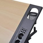 Table à dessin inclinable avec tabouret - plateau inclinable - 2 grands tiroirs - 118 x 62 x 68,5 cm -106( L x P x H) de la marque vidaXL image 4 produit