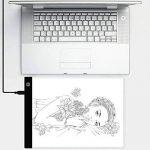 Tablette Lumineuse A4 avec 3 Niveaux Réglables de Luminosité LED A4 Taille Pad Pour Dessiner Tatouage Esquisse Avec Cable USB de la marque New_Soul image 4 produit