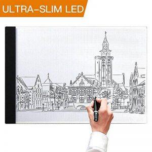 Tablette Lumineuse, A4 Light Box LED Copie Board Light Pad avec prise USB et le câble, Conseil de tatouage de traçage de dessin d'art pour des artistes, Dessin, Animation, Esquisse, Conception de la marque SAMTIAN image 0 produit