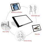 Tablette Lumineuse, Luminosité Réglable A4 Super Mince avec Cable USB Lumineuse Dessin LED Copy Light Box pour dessiner & encrer les Dessins (Luminosité réglable sur 6 niveaux) de la marque EZESO image 3 produit