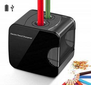 Taille-crayon électrique, alimenté par USB ou affûteuse électronique automatique résistante à piles pour le crayon No.2 et coloré de la marque ARPDJK image 0 produit