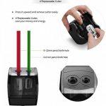 Taille-crayon électrique, alimenté par USB ou affûteuse électronique automatique résistante à piles pour le crayon No.2 et coloré de la marque ARPDJK image 4 produit