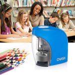 Taille Crayons Electrique automatique bureau école - Professionnel affûtage précise rapide Crayon pour taille-crayon crayons de couleur, crayons sourcils (Bleu) de la marque CNASA image 6 produit