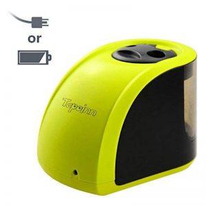 Taille-crayons électrique à 2trous Tepoinn, fonctionnant sur batterie/câble USB. Idéal pour la maison, le bureau et l'école, compact et fiable. jaune citron de la marque Tepoinn image 0 produit