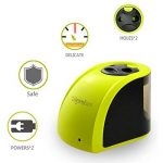 Taille-crayons électrique à 2trous Tepoinn, fonctionnant sur batterie/câble USB. Idéal pour la maison, le bureau et l'école, compact et fiable. jaune citron de la marque Tepoinn image 3 produit