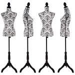 TecTake Buste de femme mannequin de couture | Réglable en hauteur : 133 – 168 cm (noir-blanc | no. 402565) de la marque TecTake image 2 produit