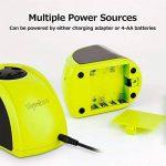 Tepoinn Batterie/2 Trous Taille-Crayon Electronique Chargé par/Batterie alimentation électrique 2 trous de taille différente Aiguiseur de la marque Tepoinn image 4 produit