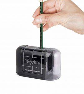 Tepoinn Taille-Crayon Électrique pour Étudiants Enseignants Ingénieurs Concepteurs, Alimenté Par des Piles Haute Vitesse et Facile à Utiliser, Peut Utiliser Plus de 3000 Fois de la marque Tepoinn image 0 produit