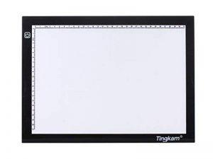 Tingkam Ruban A3ultra fin compatible avec variateur d'intensité Luminosité Calque Artiste Tattoo Boite à lumière LED éclairage réglable Lumière Pad Light Bureau garantie 12mois de la marque Tingkam image 0 produit