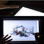 Tingkam Ruban A3ultra fin compatible avec variateur d'intensité Luminosité Calque Artiste Tattoo Boite à lumière LED éclairage réglable Lumière Pad Light Bureau garantie 12mois de la marque Tingkam image 3 produit