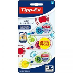 Tipp-Ex Mini Pocket Mouse Rubans Correcteurs - Couleurs Fashion Assorties, Blister de 3 de la marque Tipp Ex image 0 produit
