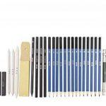 Tomkity 36PCS Crayons de Dessin Crayons Croquis Kit de Croquis Dessin avec Sac Inclus Gomme Crayon de Charbon Graphite Outils pour Dessiner de la marque Tomkity image 1 produit