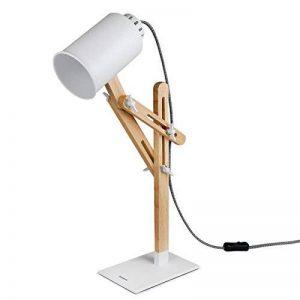 Tomons Lampe de Table en Bois LED Lampe de Bureau Chevet Lecture Pliable Réglable Lumière éclairage Mode Vintage Design Original pour Chambre Salon Maison Cabinet de Travail et étude Décoration Ampoule Inclus de la marque Tomons image 0 produit
