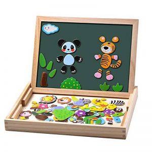 Uping Puzzles en Bois Magnétique avec Tableau Double Face Aimanté Jouet Educatif pour Enfant 3 Ans et plus de la marque Uping image 0 produit