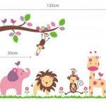 Walplus Set de stickers muraux Motif animaux de la jungle fantaisie Grand format de la marque Walplus image 2 produit