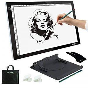 Yaufey A3 LED Tables lumineuses, Luminosite Reglable Light Pad Table Lumineuse Tablette Lumineuse Dessin en Panneaux Acryliques (A3 USB) de la marque Yaufey image 0 produit
