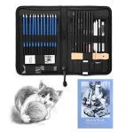 YOHOOLYO 41PCS Crayons de Dessin Crayons Croquis Kit de Croquis Dessin avec Sac Inclus Gomme Crayon de Charbon Graphite Outils pour Dessiner de la marque YOHOOLYO image 1 produit