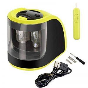 Yosun-uk Taille-crayon électrique, 2trous de diamètres, Alimenté par batterie Adaptateurs ou, pour les enfants, les étudiants, les artistes et bureau–Vert de la marque YOSUN-UK image 0 produit