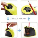 Yosun-uk Taille-crayon électrique, 2trous de diamètres, Alimenté par batterie Adaptateurs ou, pour les enfants, les étudiants, les artistes et bureau–Vert de la marque YOSUN-UK image 4 produit