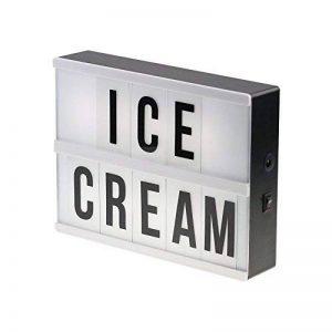 ZMVA A5 LED Cinema Light Box ~ Lumières vers le haut de votre vie ~ Boîte lumineuse cinématique ~ Lightbox avec des lettres flexibles de la marque ZMVA image 0 produit