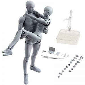 Zreal Corps Chan & Kun Poupée mâle femelle DX en PVC modèle pour SHF Maschio + femmina gris de la marque ZREAL image 0 produit